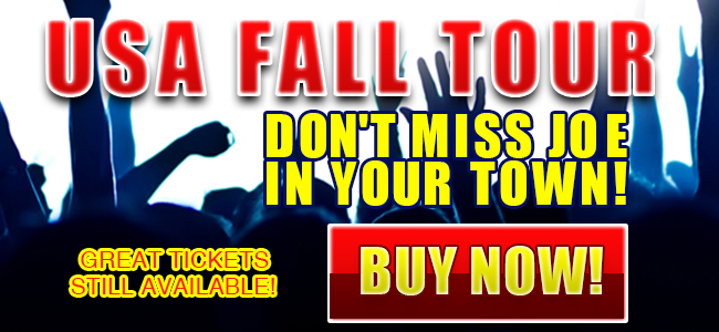 Bonamassa USA Fall Tour! Don't miss Joe in your town! Great tickets still available! Buy Now!